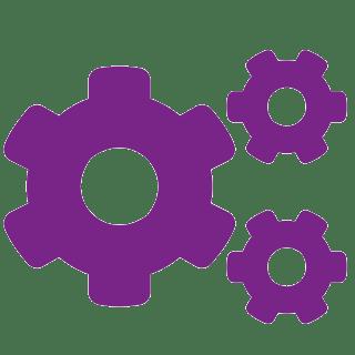 Pictograma violet cu un fundal transparent