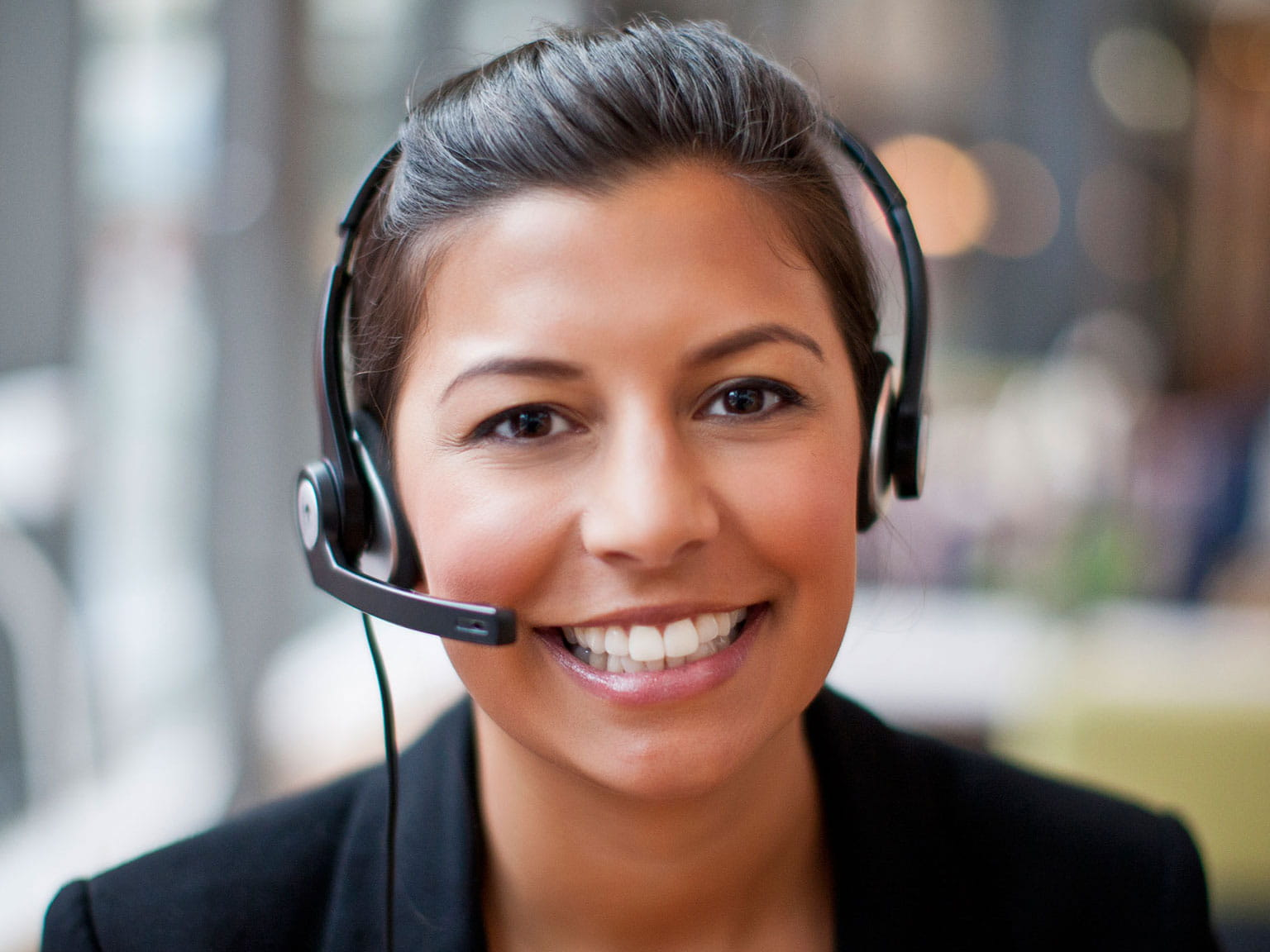 contact us woman on headset