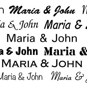 Selecție de fonturi disponibile în aplicația P-touch Design&Print