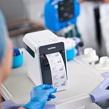 TD imprimând etichete