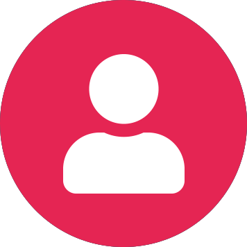 Pictogramă utilizator alb pe cerc roz