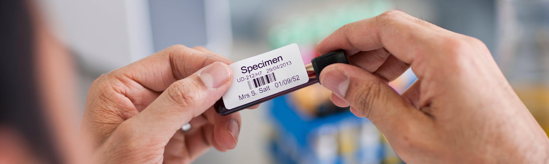 Etichetă probă sânge