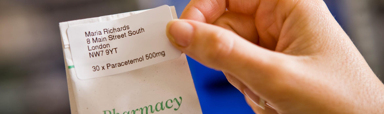 Etichetă pungă medicamente