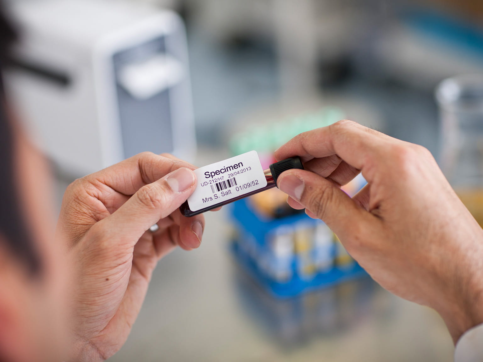 Etichetă probă de sânge
