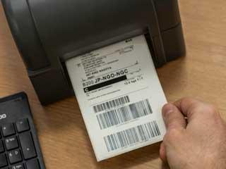 Etichetă imprimată pe imprimantă de etichete din gama Brother TD-4T