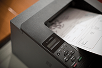 Brother printer printing documents