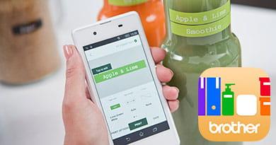 Mobilni telefon z aplikacijo P-touch Design&Print
