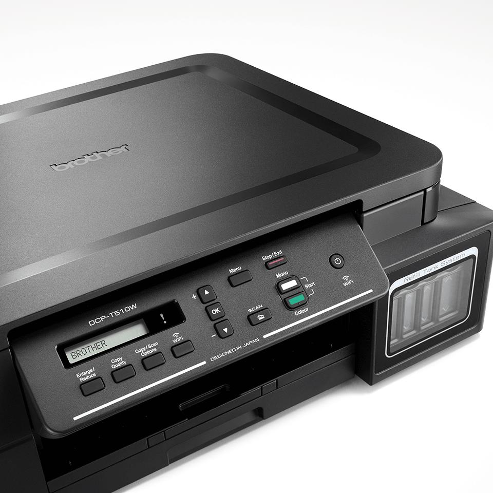 Multifuncțional 3-în-1 wireless cu cerneală DCP-T510W de la Brother  4