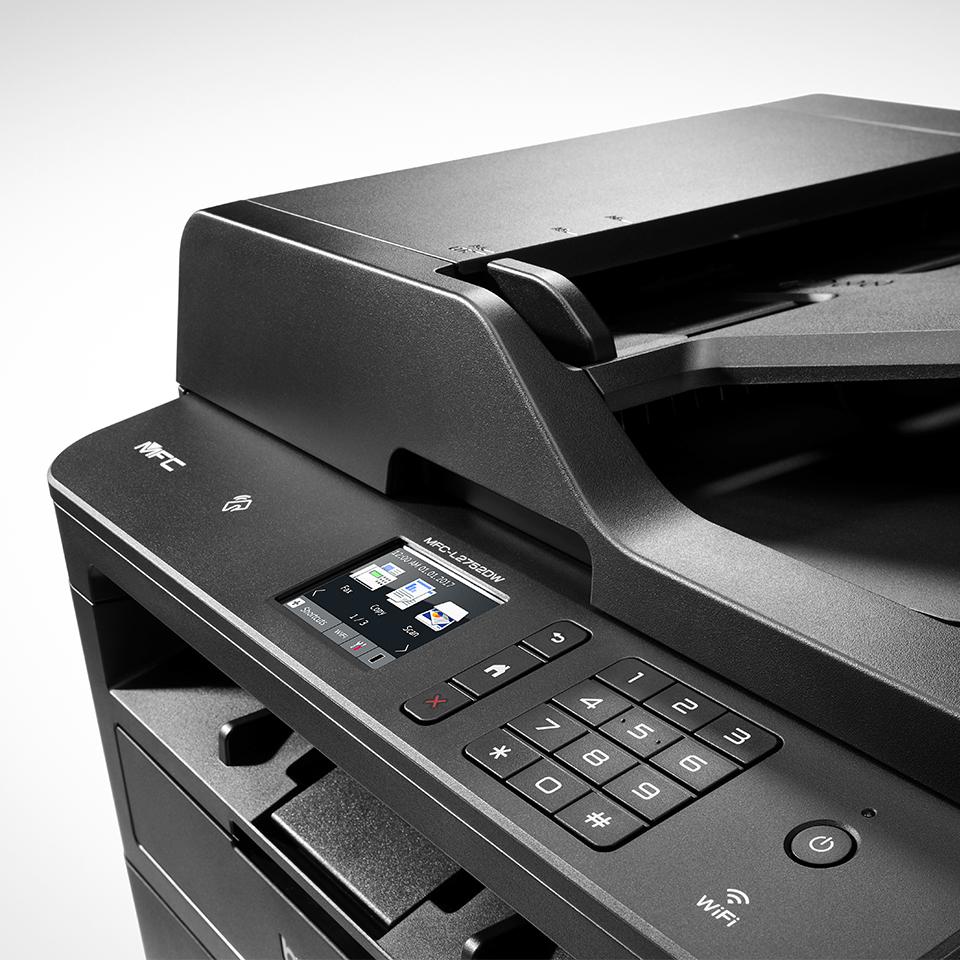 Imprimantă multifuncțională 4-în-1 laser mono MFC-L2752DW compactă cu rețea wireless & cu fir 6