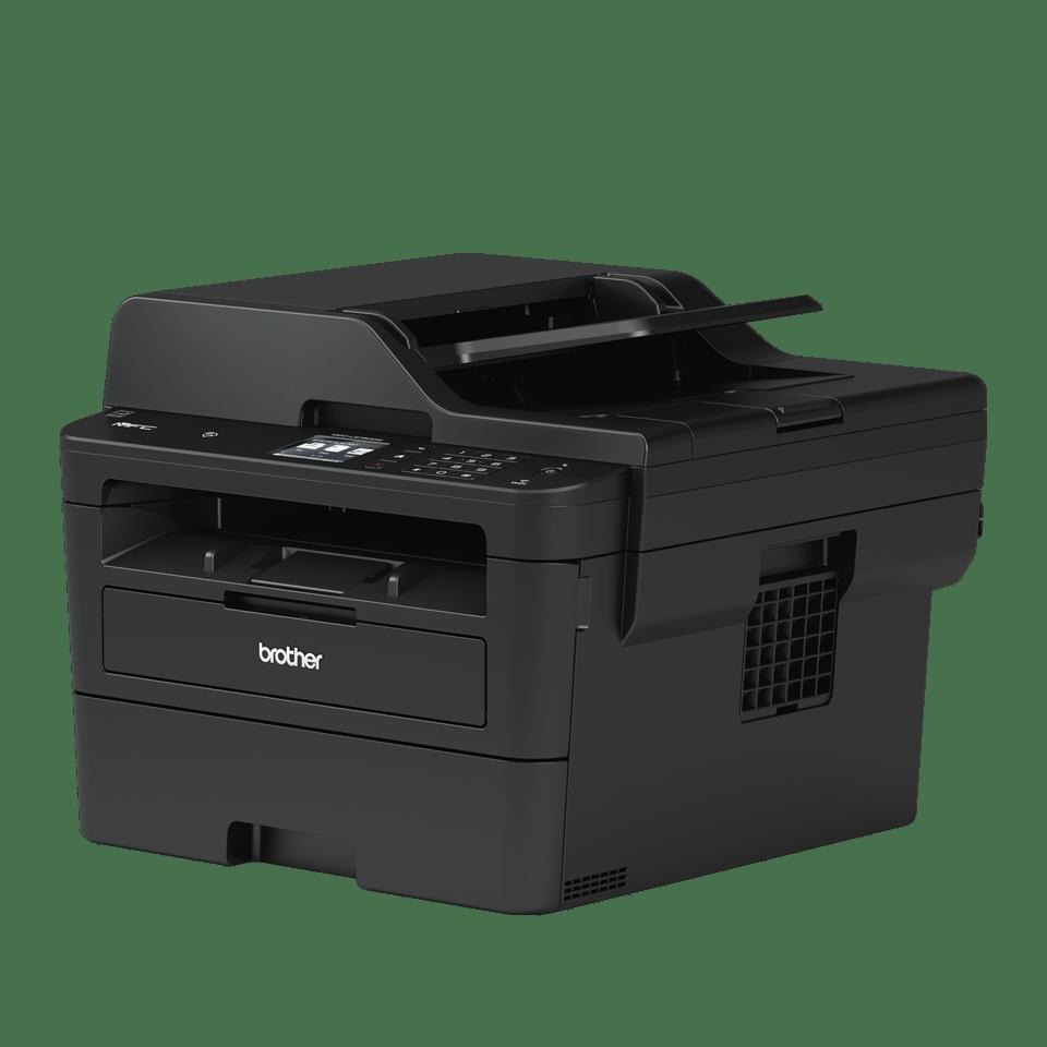 Imprimantă multifuncțională 4-în-1 laser mono MFC-L2752DW compactă cu rețea wireless & cu fir 2