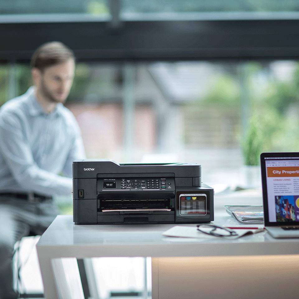 Imprimantă inkjet 4-în-1 cu wireless MFC-T910DW InkBenefit Plus de la Brother  3