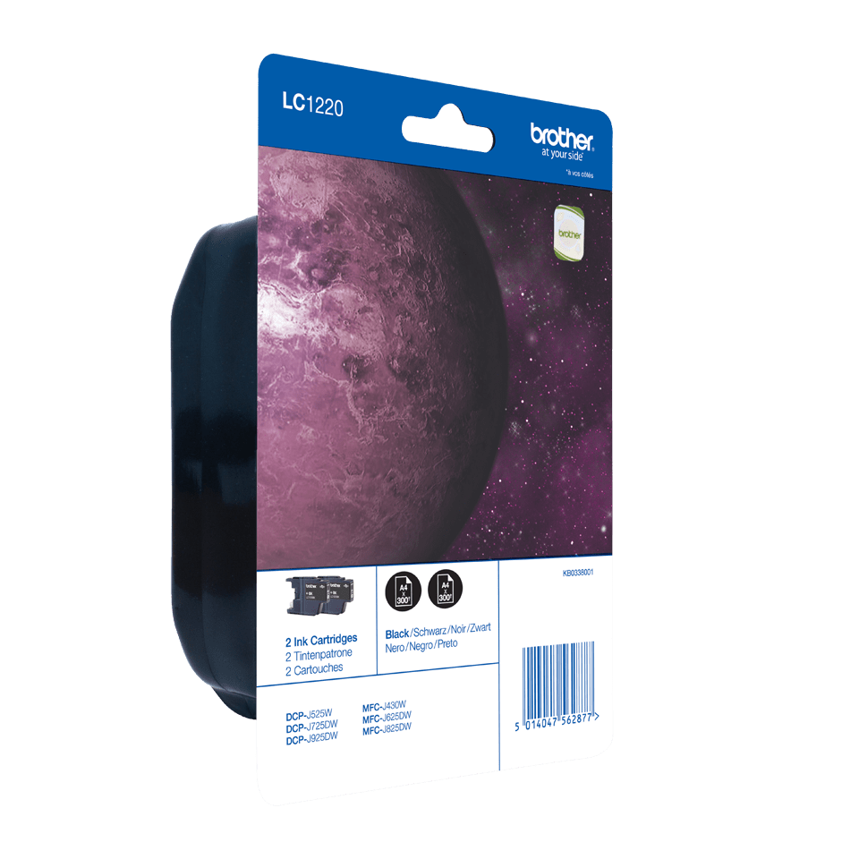Genuine Brother LC1220BKBP2 Ink Cartridge Twin Pack – Black 2