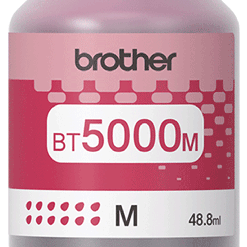 Flacon cu cerneală magenta de capacitate mare original Brother BT5000M 2