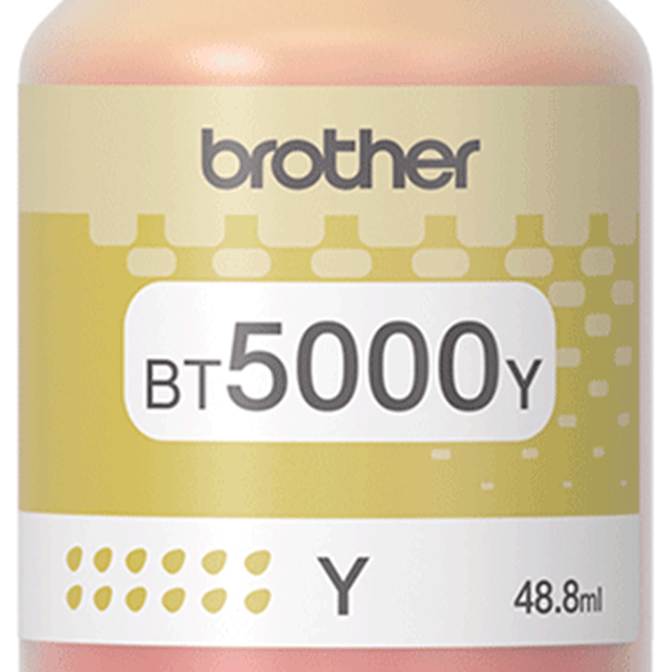 Flacon cu cerneală galbenă de capacitate mare original Brother BT5000Y 2