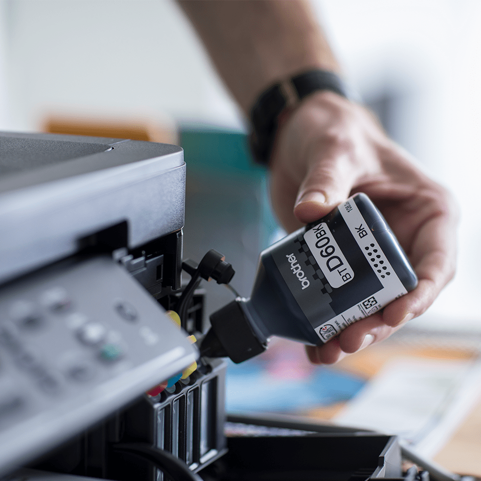 Flacon cu cerneală neagră de capacitate mare original Brother BTD60BK 2