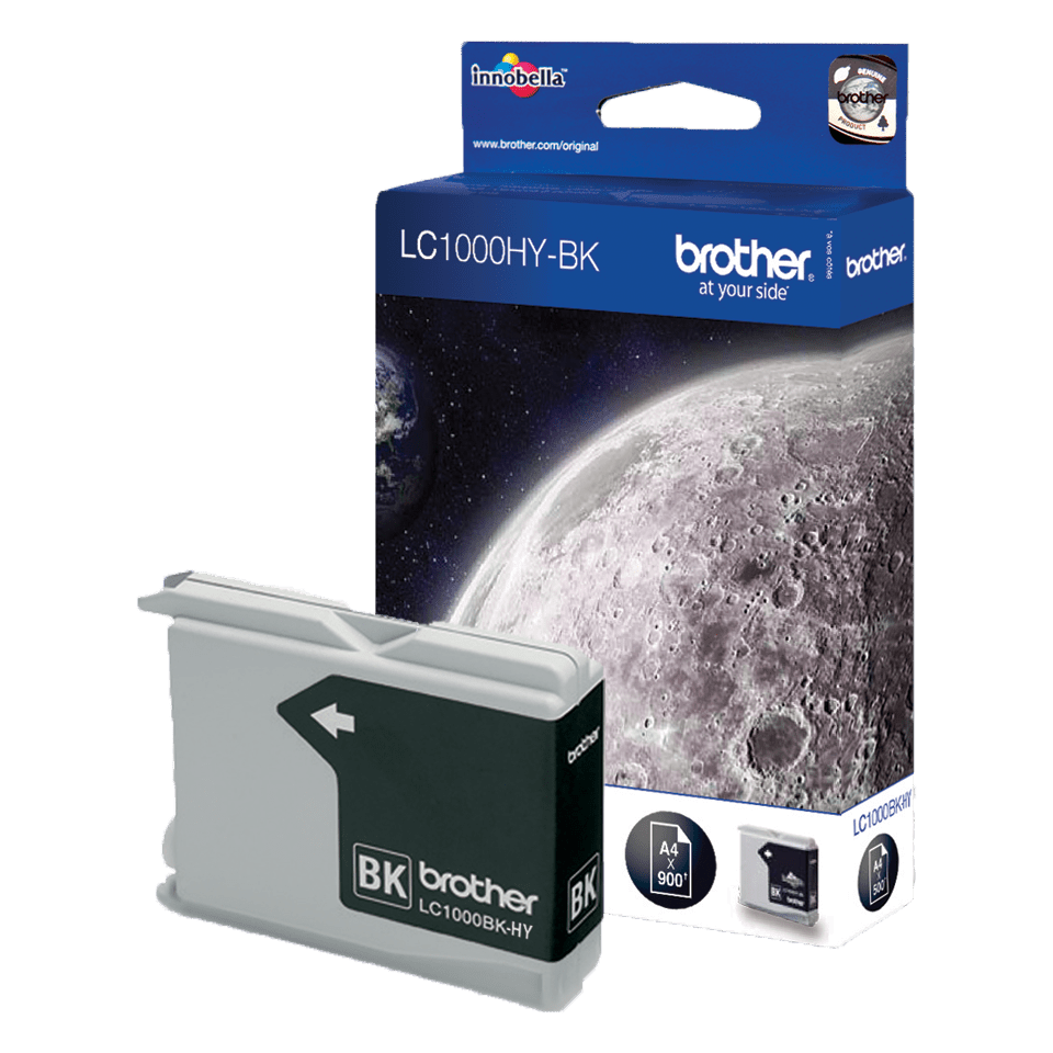 Genuine Brother LC1000HYBK High Yield Ink Cartridge – Black