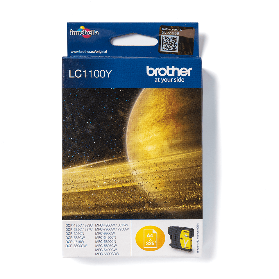 Cartuș de cerneală original Brother LC1100Y – galben