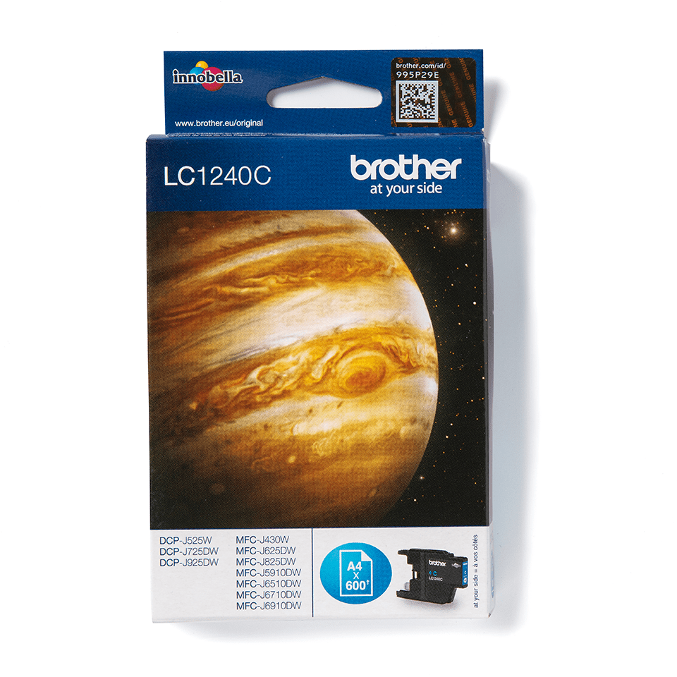 Genuine Brother LC1240C Ink Cartridge – Cyan