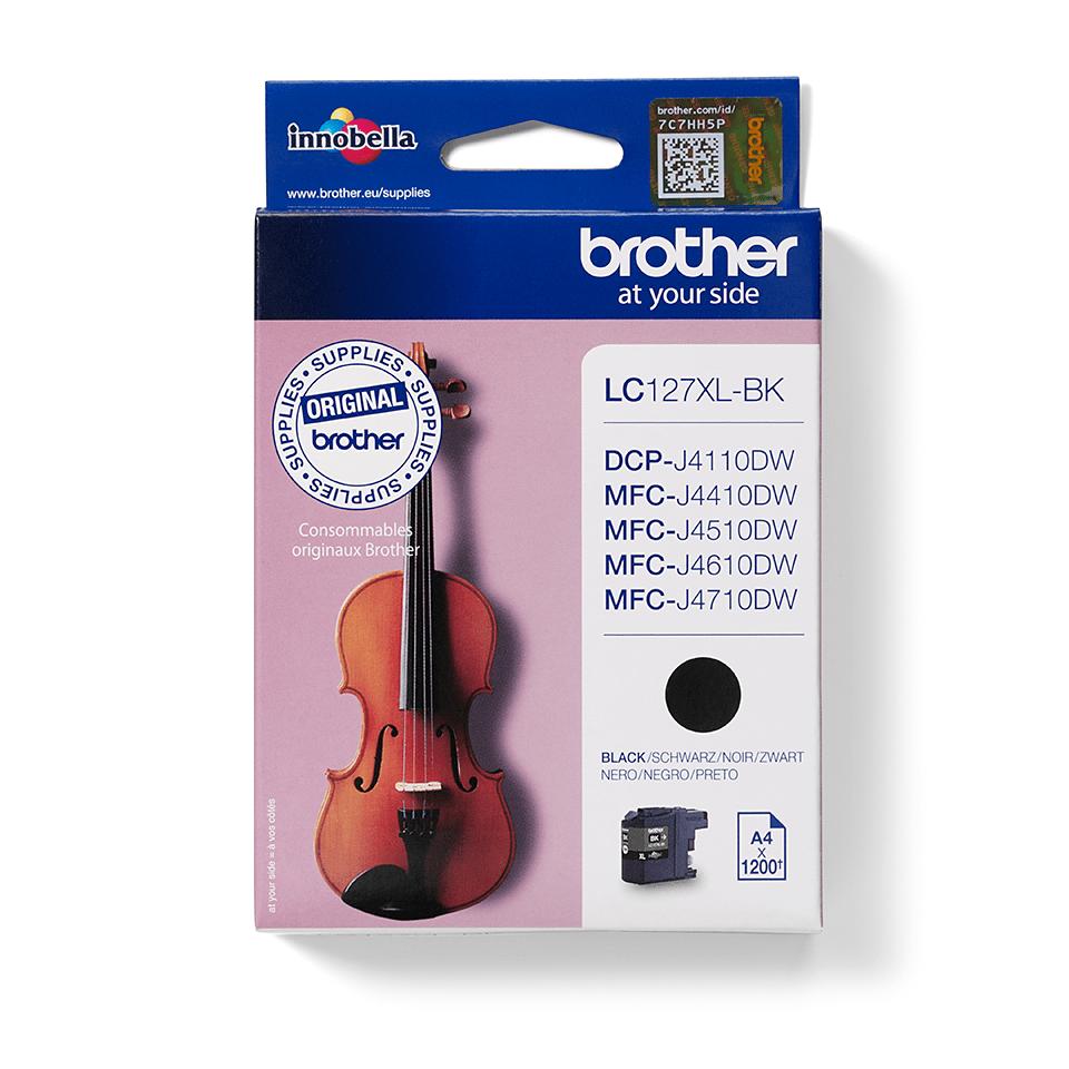 Cartuș de cerneală original Brother LC127XLBK de capacitate mare – negru
