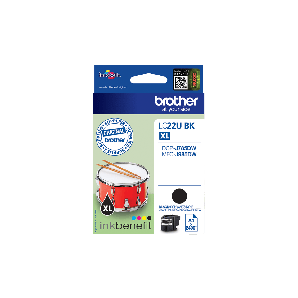Genuine Brother LC22UBK Ink Cartridge – Black