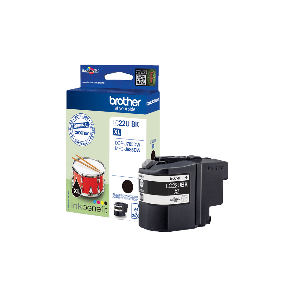Genuine Brother LC22UBK Ink Cartridge – Black 3