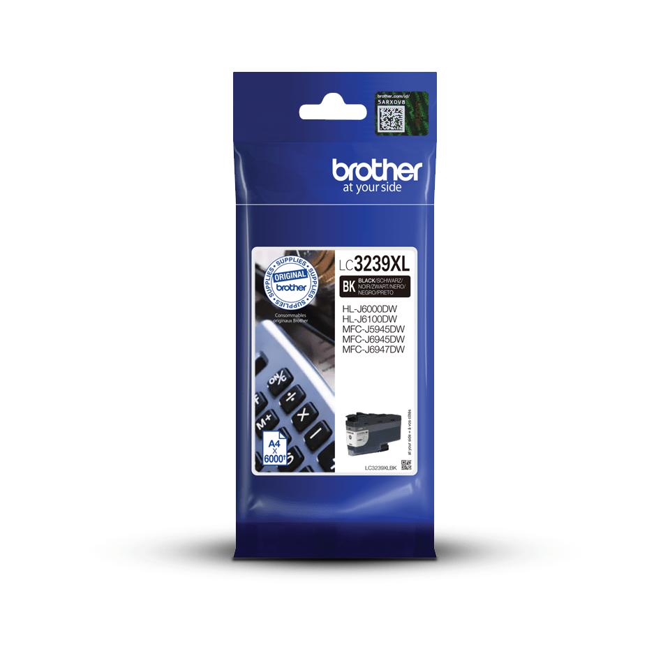 Cartuș de cerneală de capacitate mare original Brother LC3239XLBK – Neagră