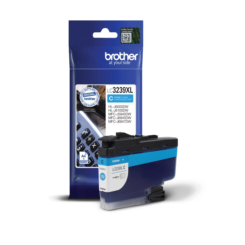 Cartuș de cerneală de capacitate mare original Brother LC3239XLC – Cyan 3