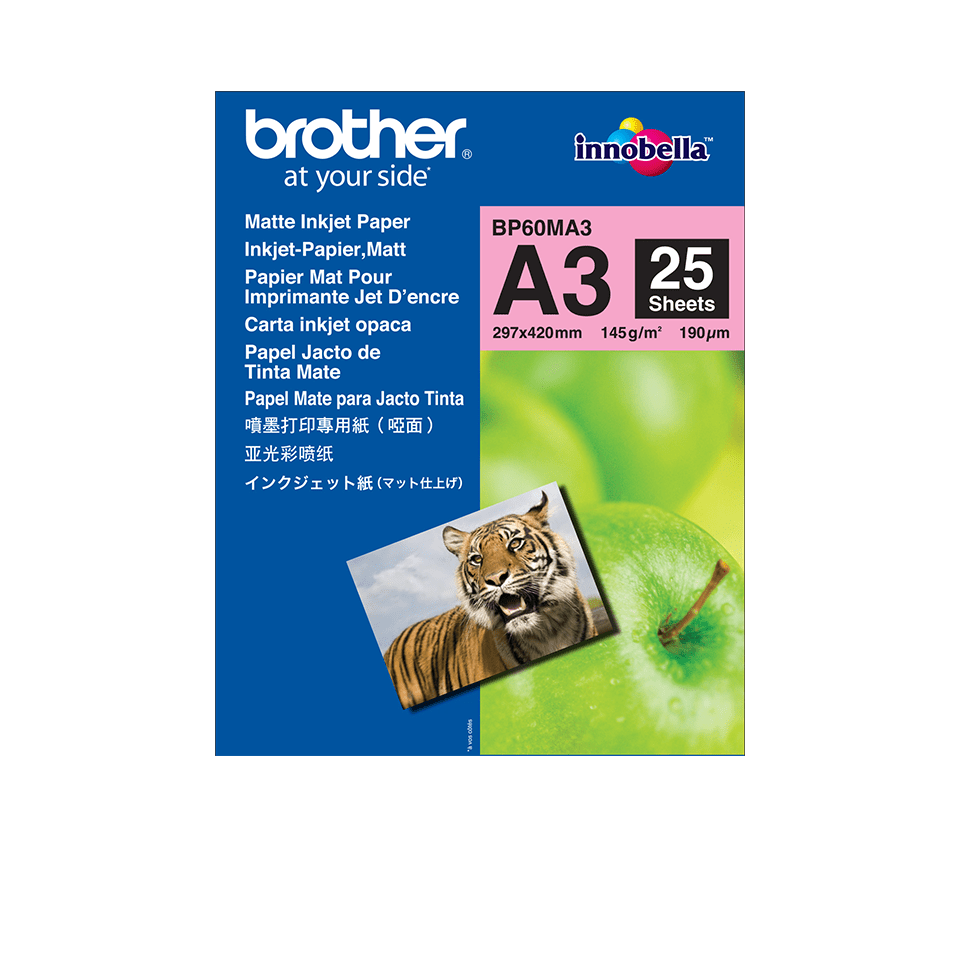 Hârtie inkjet A3 mată originală Brother BP60MA3