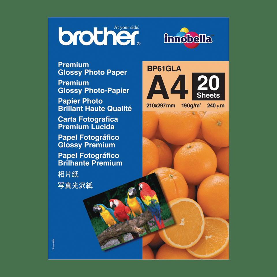 Hârtie foto lucioasă A4 originală Brother BP61GLA