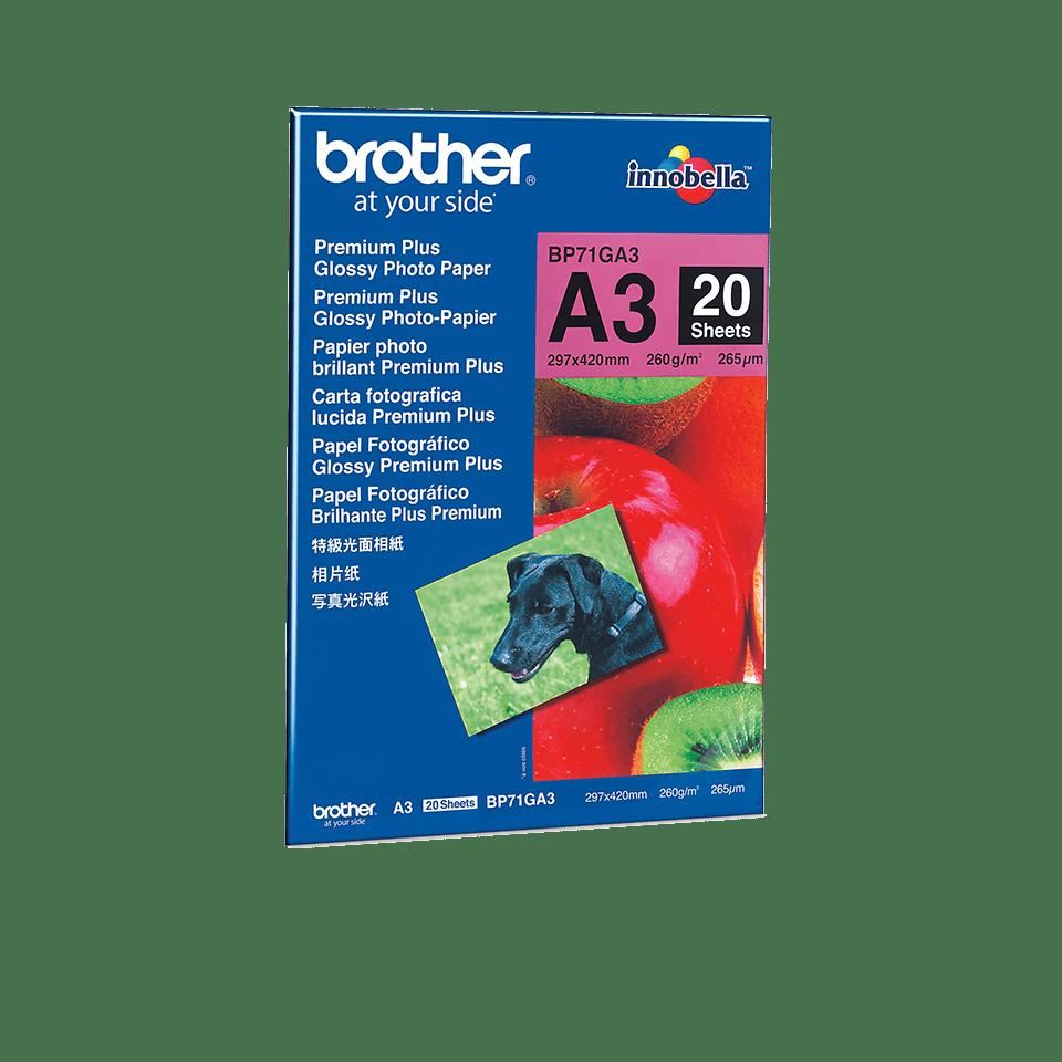 Hârtie foto lucioasă A3 originală Brother BP71GA3