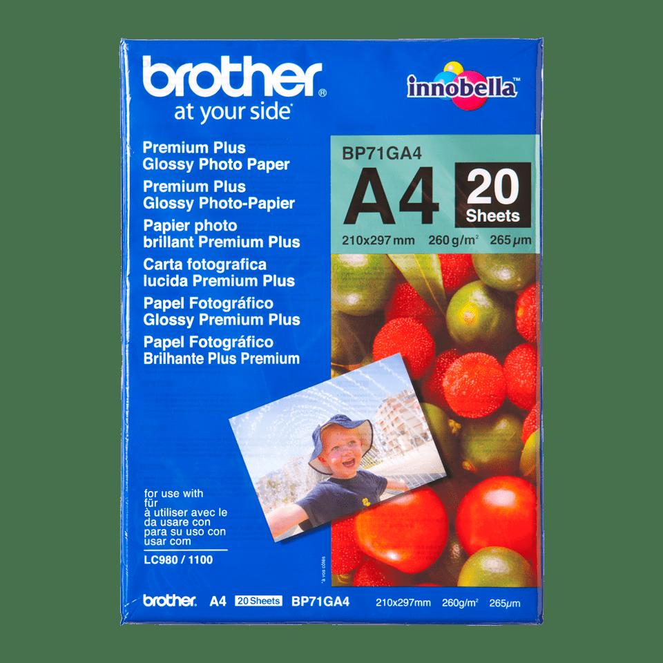 Hârtie foto lucioasă A4 originală Brother BP71GA4