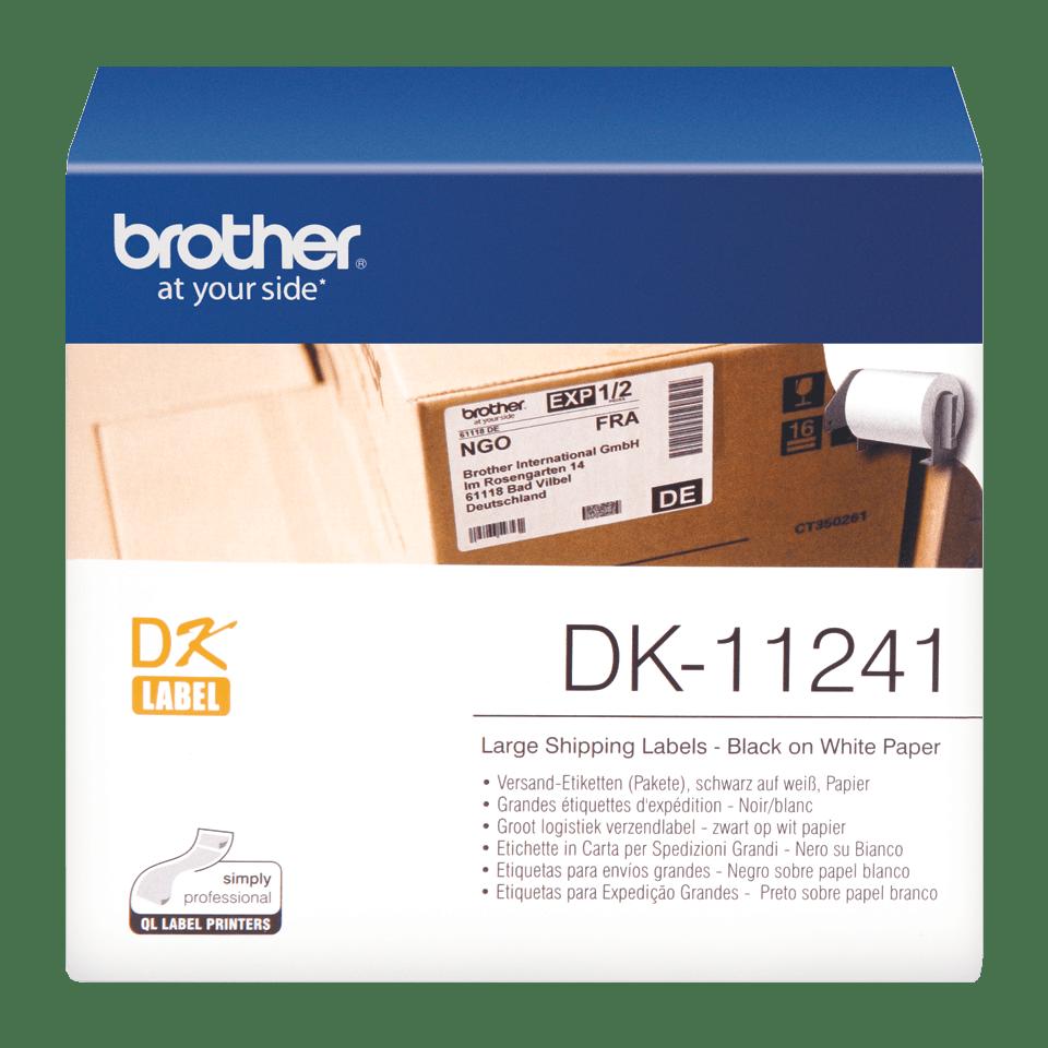 Rolă de etichete originală Brother DK-11241 – negru pe alb, 102mm x 152mm