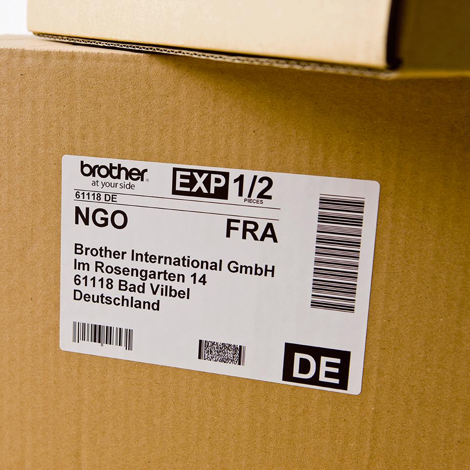 Rolă de etichete originală Brother DK-11241 – negru pe alb, 102mm x 152mm 2