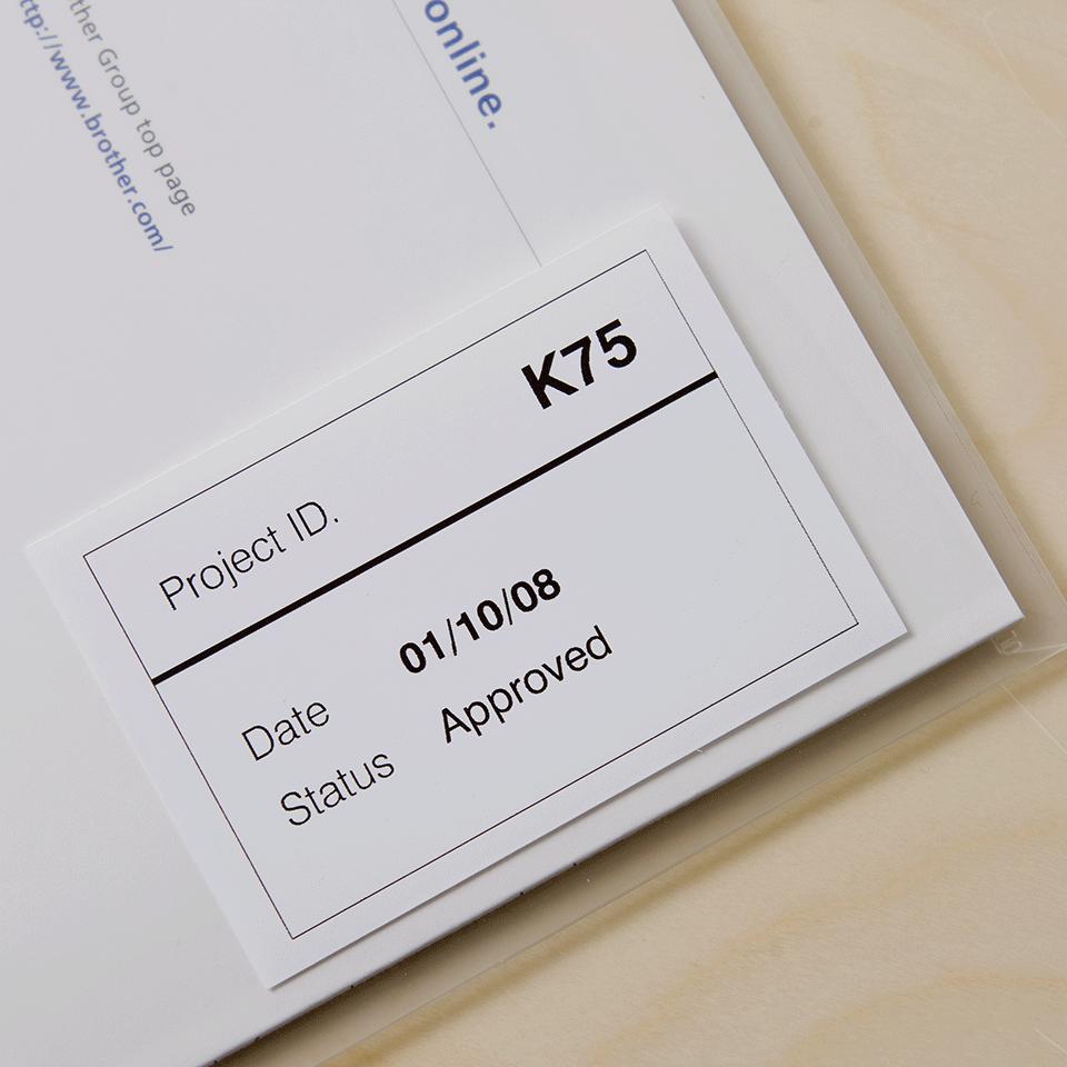 Rolă continuă de film originală Brother DK-22212 – negru pe alb, lățime de 62mm 2