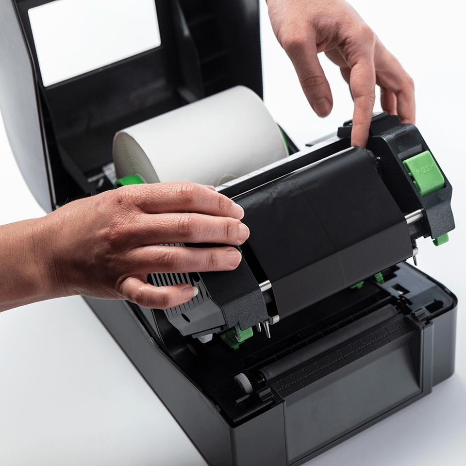 BWP-1D300-110 ribbon cu cerneală neagră și ceară premium pentru transfer termic 3