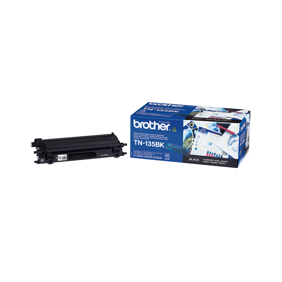 Cartuș de toner original Brother TN135BK de capacitate mare – negru