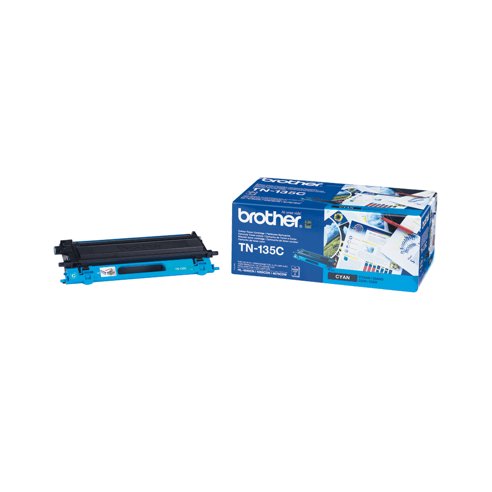 Cartuș de toner original Brother TN135C de capacitate mare – cyan