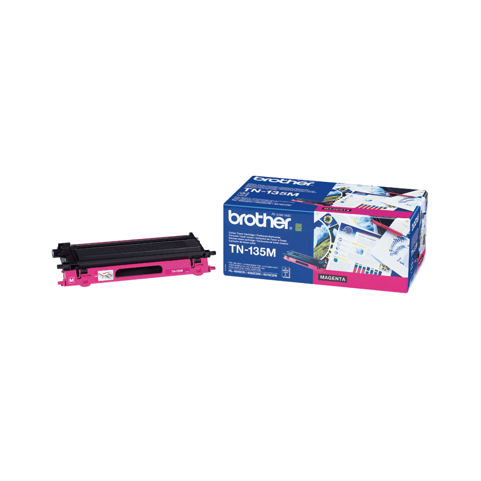 Cartuș de toner original Brother TN135M de capacitate mare – magenta