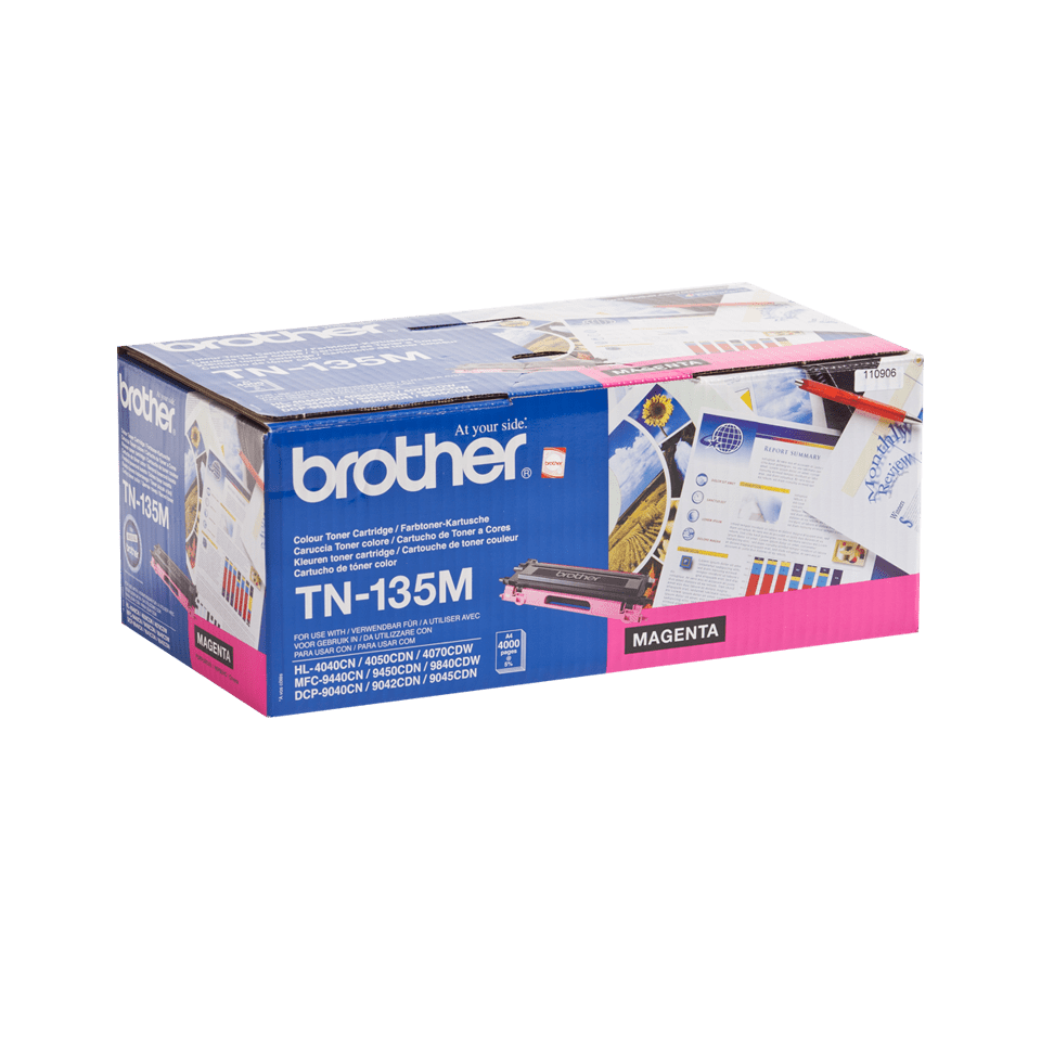 Cartuș de toner original Brother TN135M de capacitate mare – magenta  2