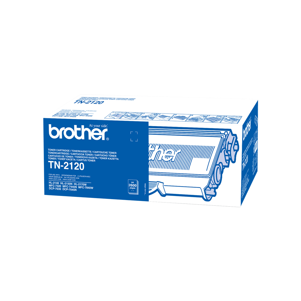 Cartuș de toner de capacitate mare original Brother TN-2120 – negru