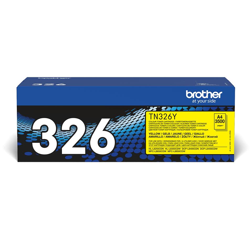 Cartuș de toner original Brother TN326Y – galben