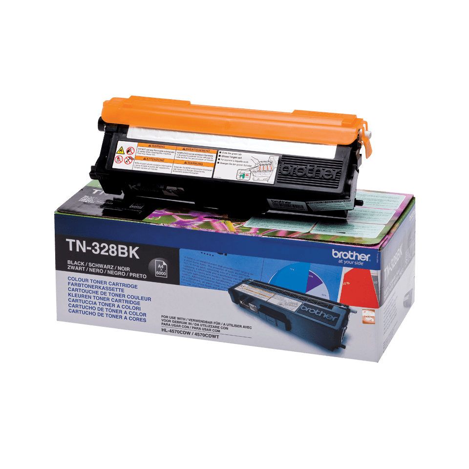 Cartuș de toner original Brother TN328BK – negru