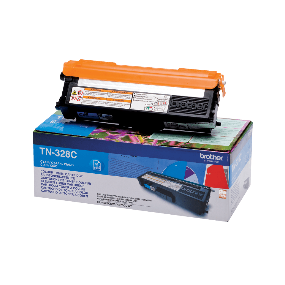 Cartuș de toner original Brother TN328C – cyan