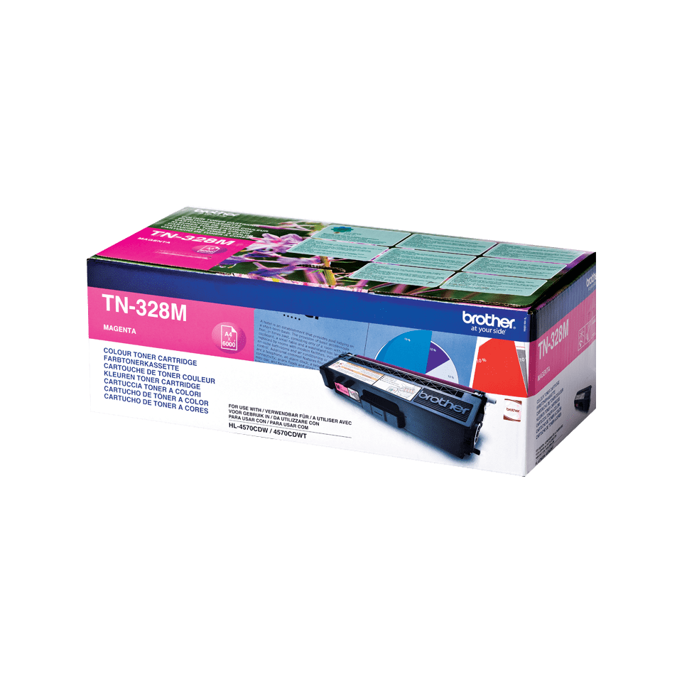 Cartuș de toner original Brother TN328M – magenta