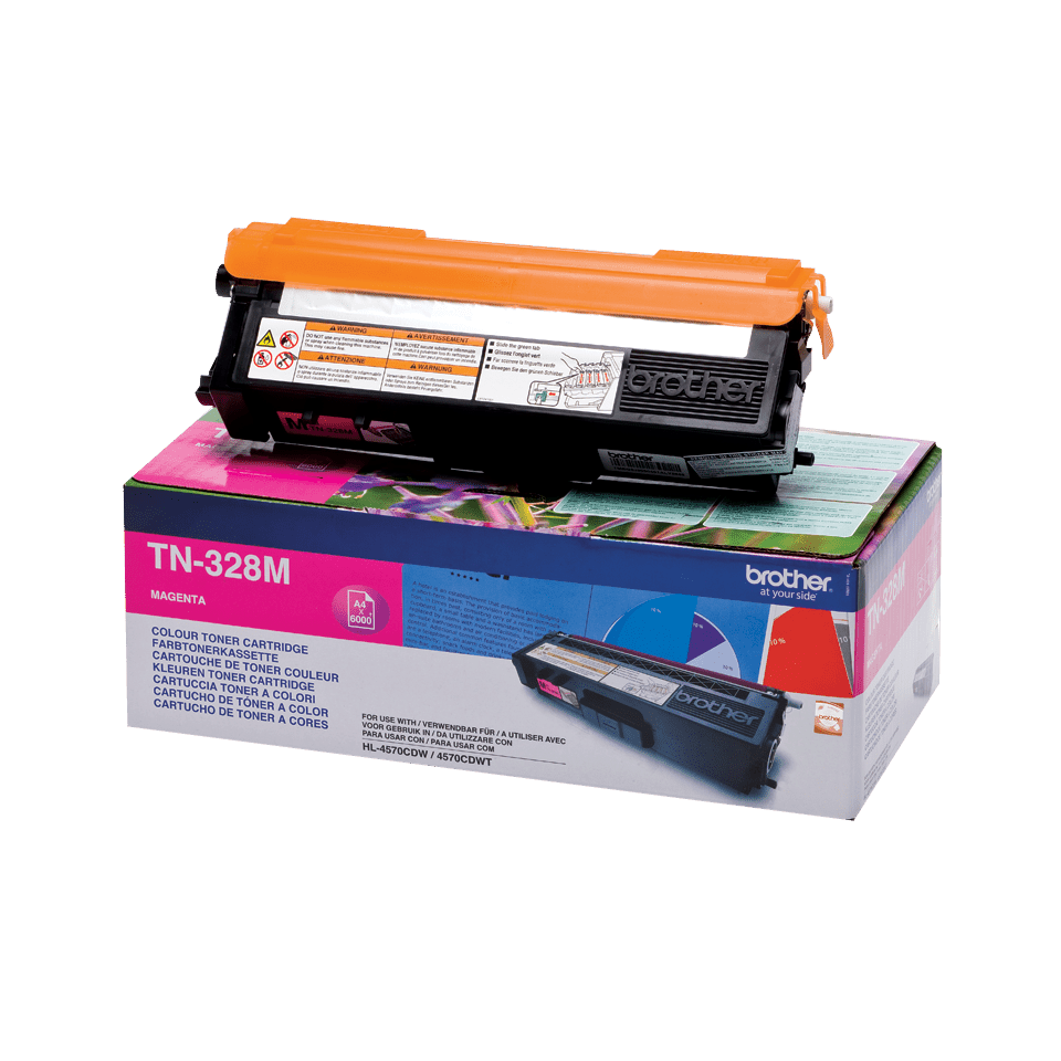Cartuș de toner original Brother TN328M – magenta 2