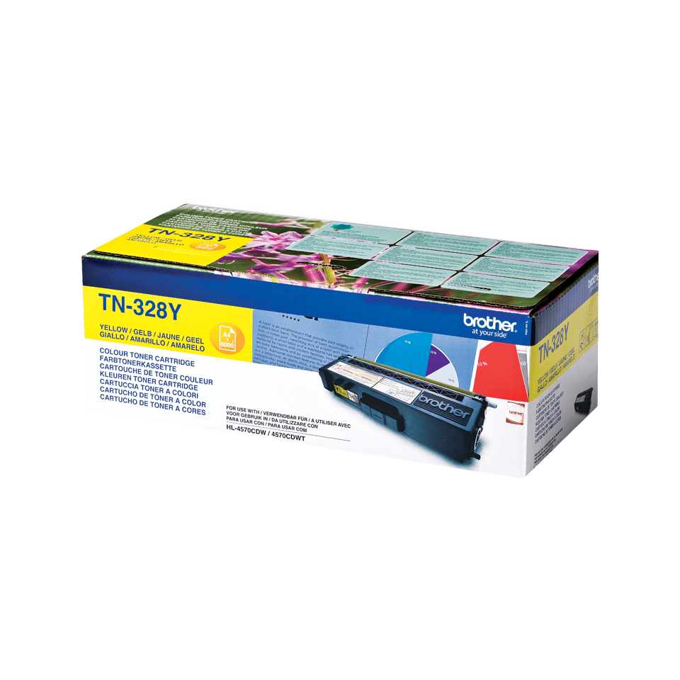 Cartuș de toner original Brother TN328Y – galben