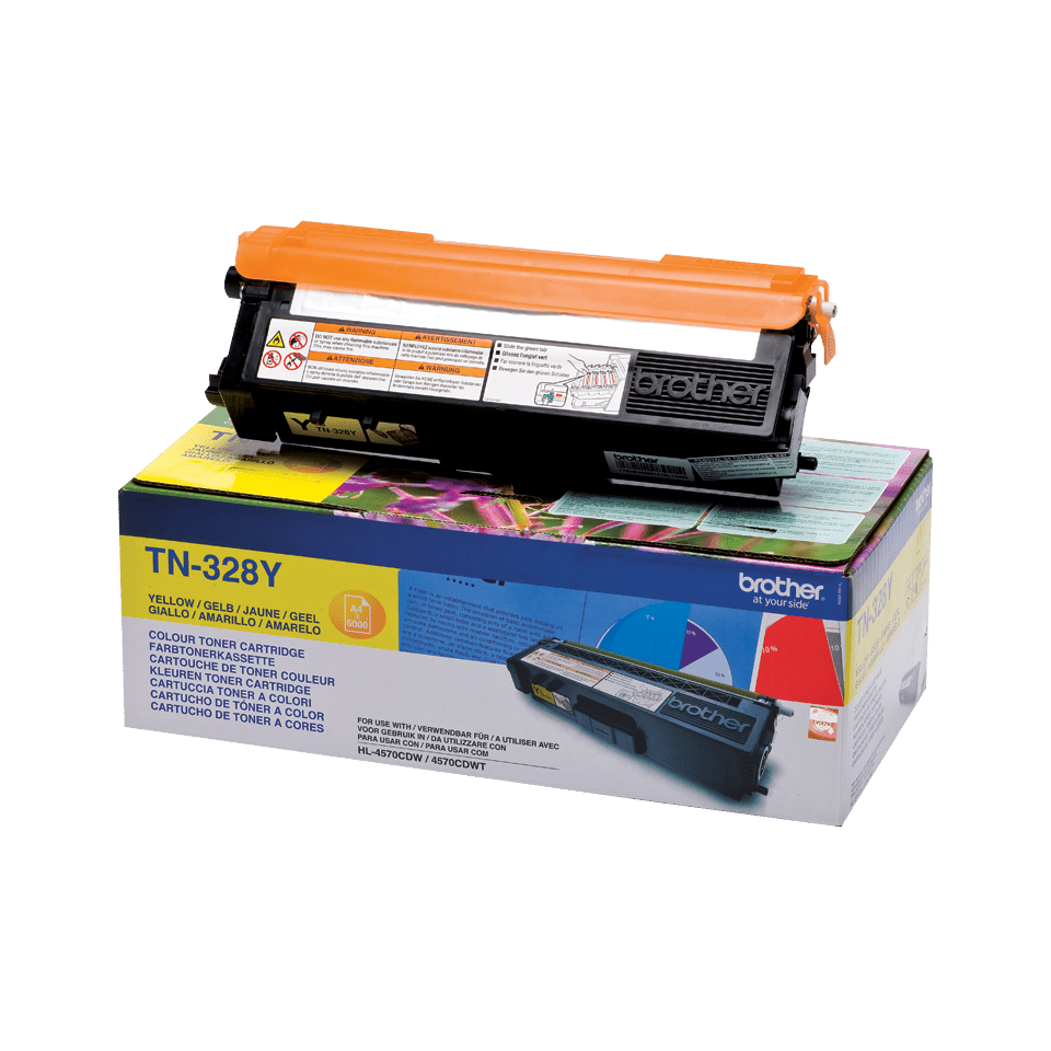Cartuș de toner original Brother TN328Y – galben 2