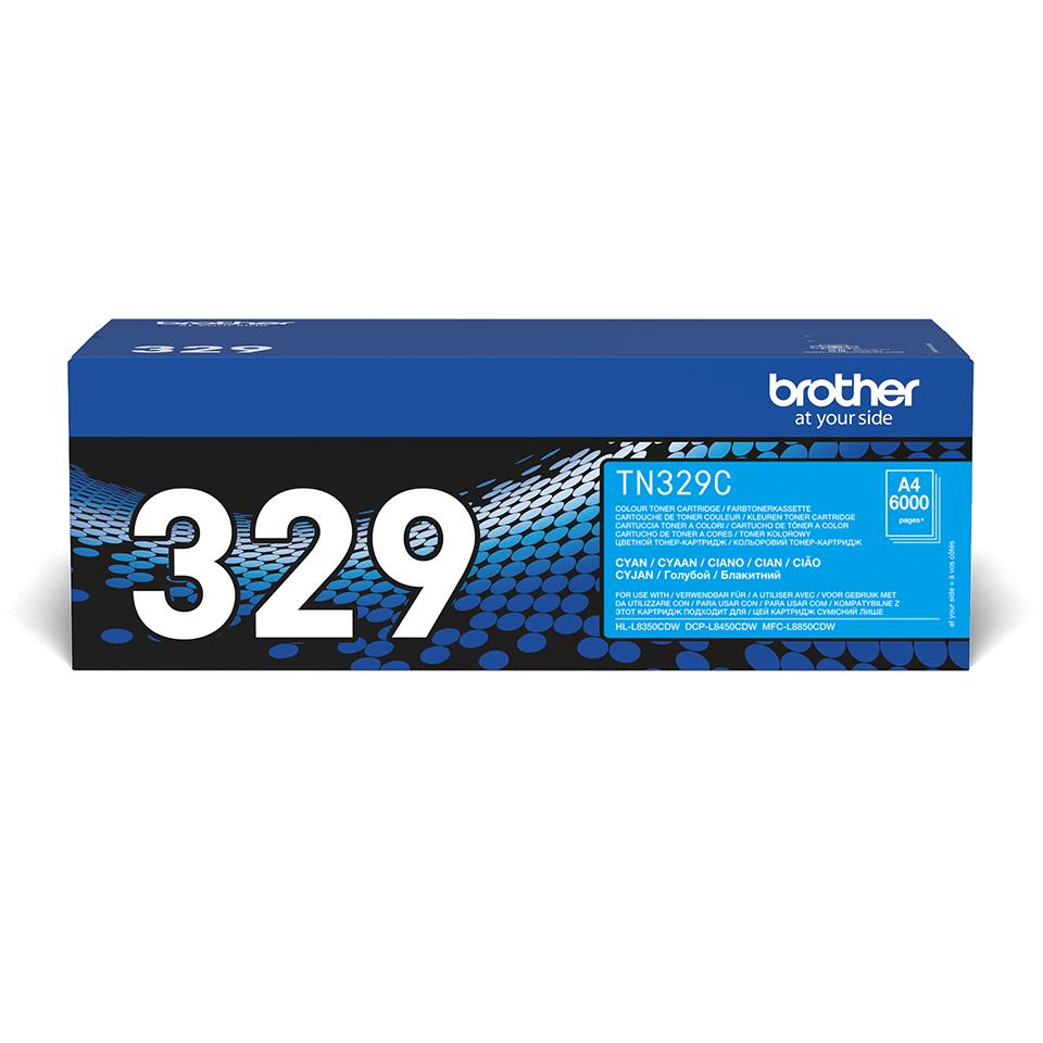 Cartuș de toner original Brother TN329C – cyan