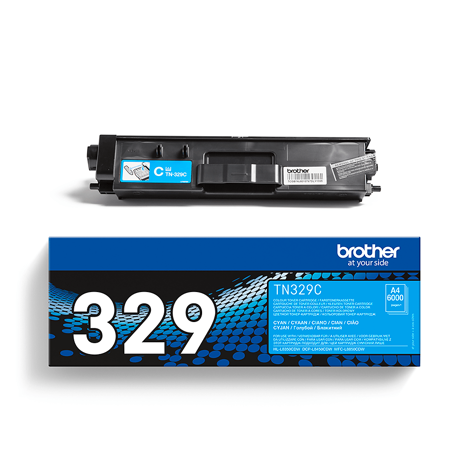 Cartuș de toner original Brother TN329C – cyan 2