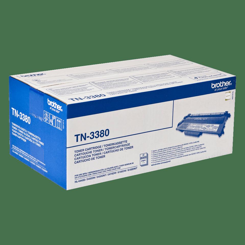 Cartuș de toner negru de capacitate mare original Brother TN-3380 2